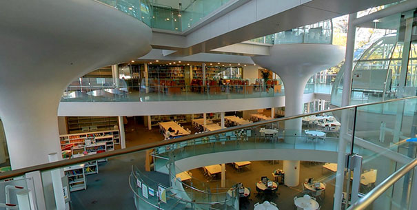 """Library In Tokyo Lets You Study In A """"Floating"""" Glass Dome 