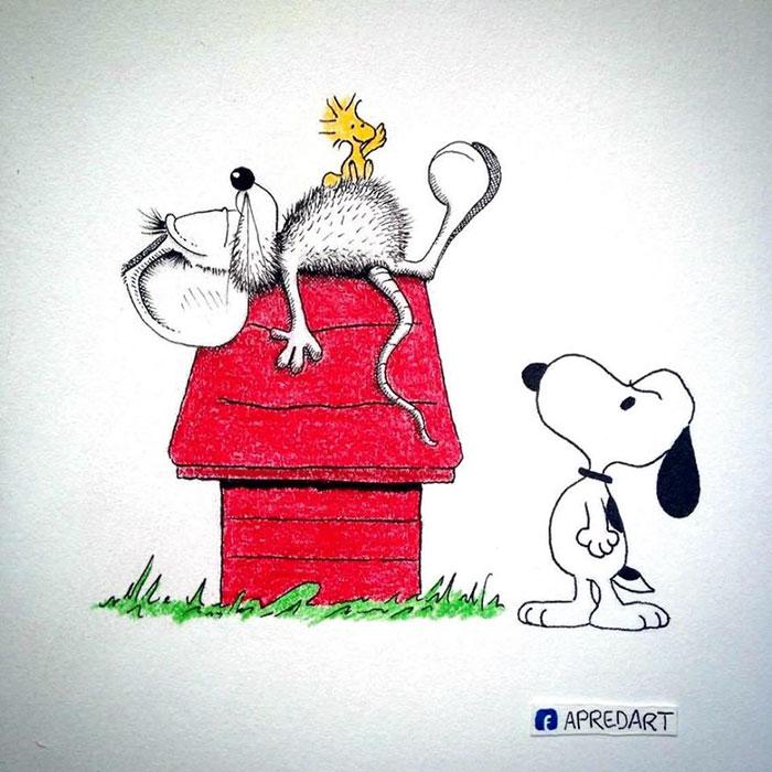 pencil-drawings-mouse-adventures-rikiki-loic-apredart-10
