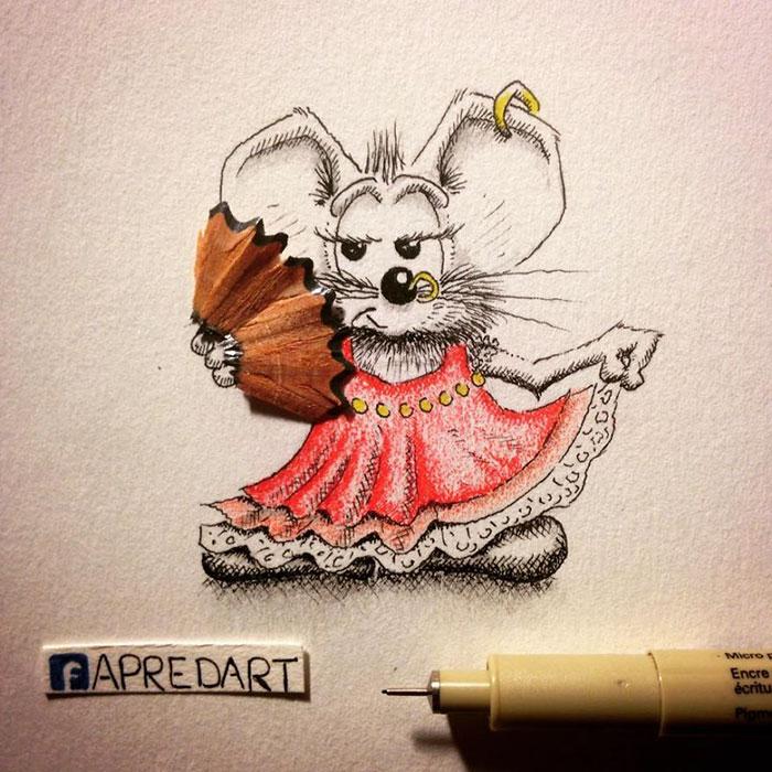 pencil-drawings-mouse-adventures-rikiki-loic-apredart-19