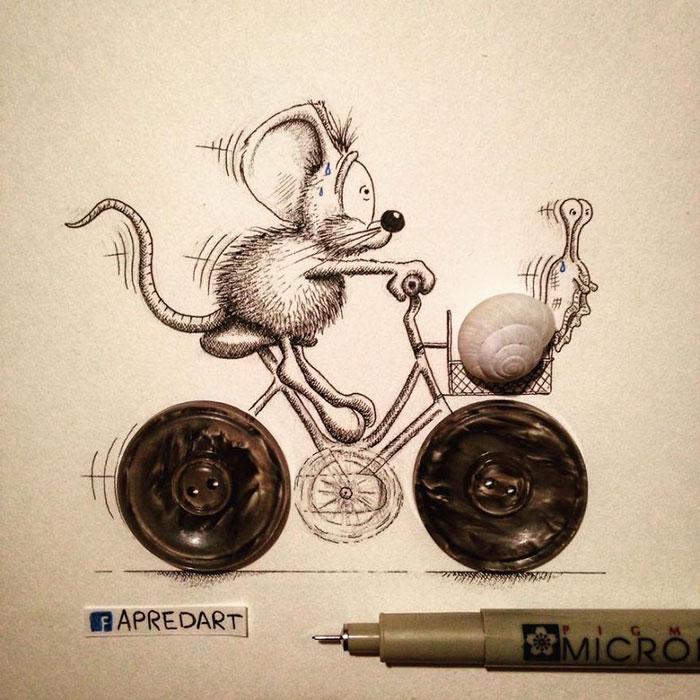 pencil-drawings-mouse-adventures-rikiki-loic-apredart-20