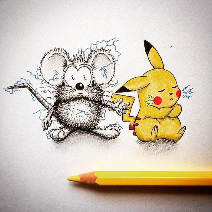 pencil-drawings-mouse-adventures-rikiki-loic-apredart-21