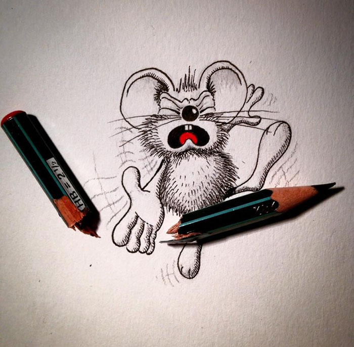 pencil-drawings-mouse-adventures-rikiki-loic-apredart-22