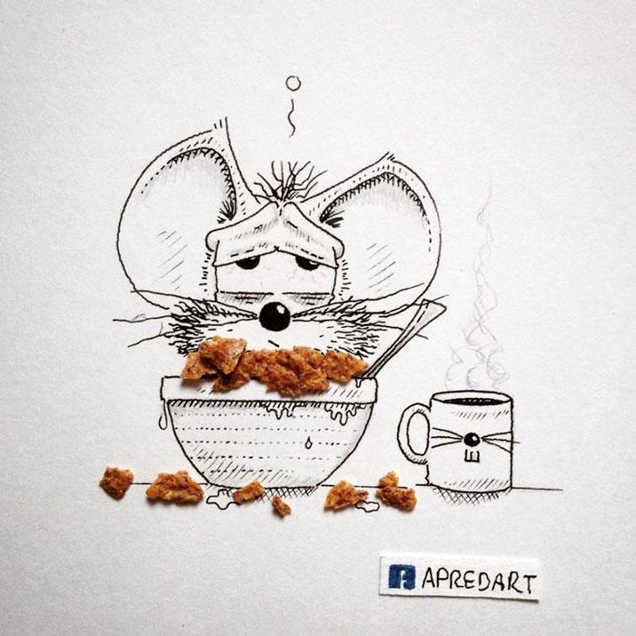 pencil-drawings-mouse-adventures-rikiki-loic-apredart-7
