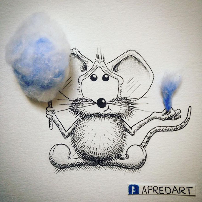 pencil-drawings-mouse-adventures-rikiki-loic-apredart-8
