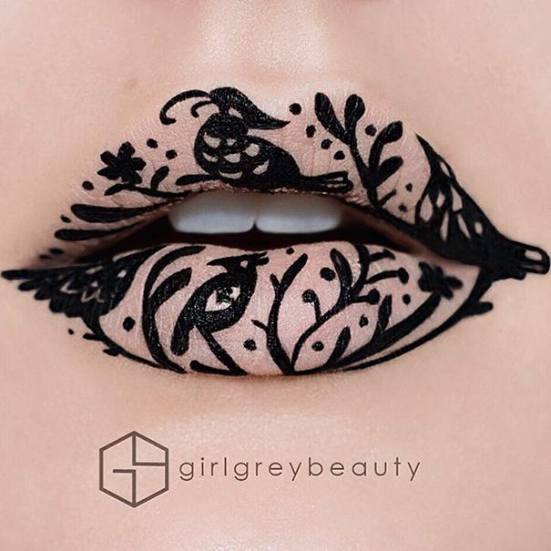 lips-drawings-makeup-art-andrea-reed-girl-grey-beauty-7
