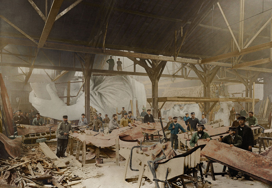 colorized-historic-photos-landmarks-under-construction-jordan-lloyd-dynamichrome-17
