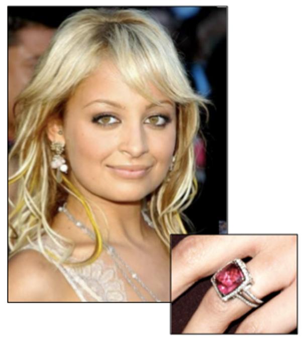 Nicole Richie's Cushion Cut Pink Sapphire Engagement Ring