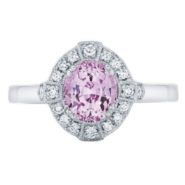 The 'Belle' Pink Sapphire Engagement ring