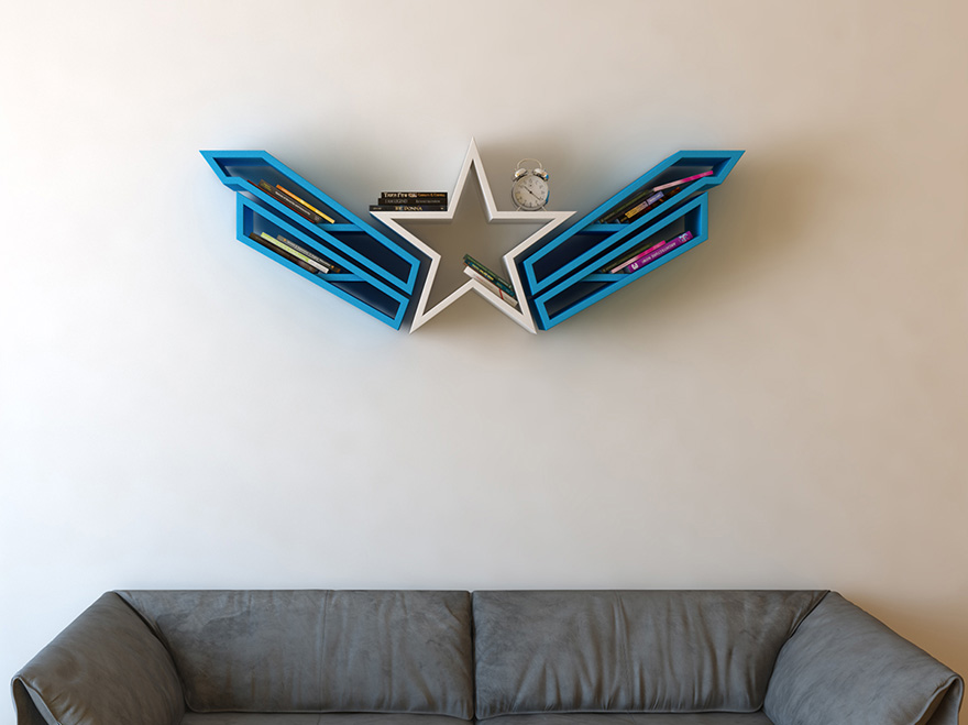 geeky-superhero-bookshelves-burak-dogan-2