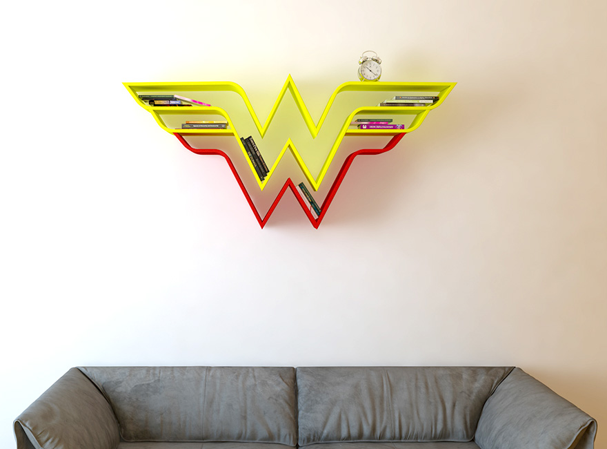 geeky-superhero-bookshelves-burak-dogan-3