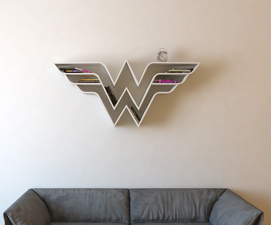 geeky-superhero-bookshelves-burak-dogan-6