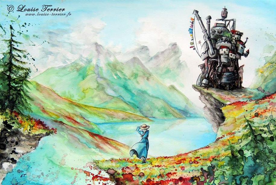 hayao-miyazaki-paintings-studio-ghibli-fan-art-louise-terrier-1