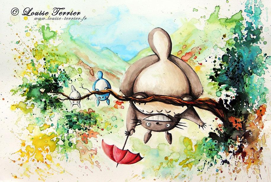 hayao-miyazaki-paintings-studio-ghibli-fan-art-louise-terrier-11