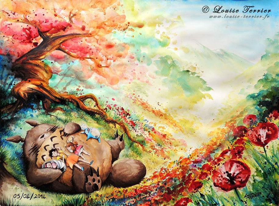 hayao-miyazaki-paintings-studio-ghibli-fan-art-louise-terrier-12