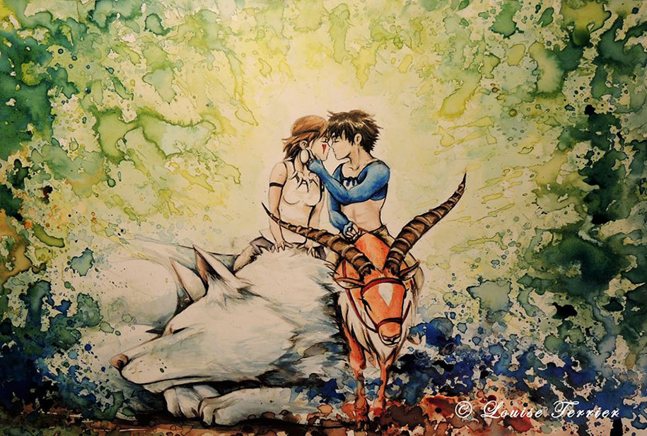 hayao-miyazaki-paintings-studio-ghibli-fan-art-louise-terrier-13