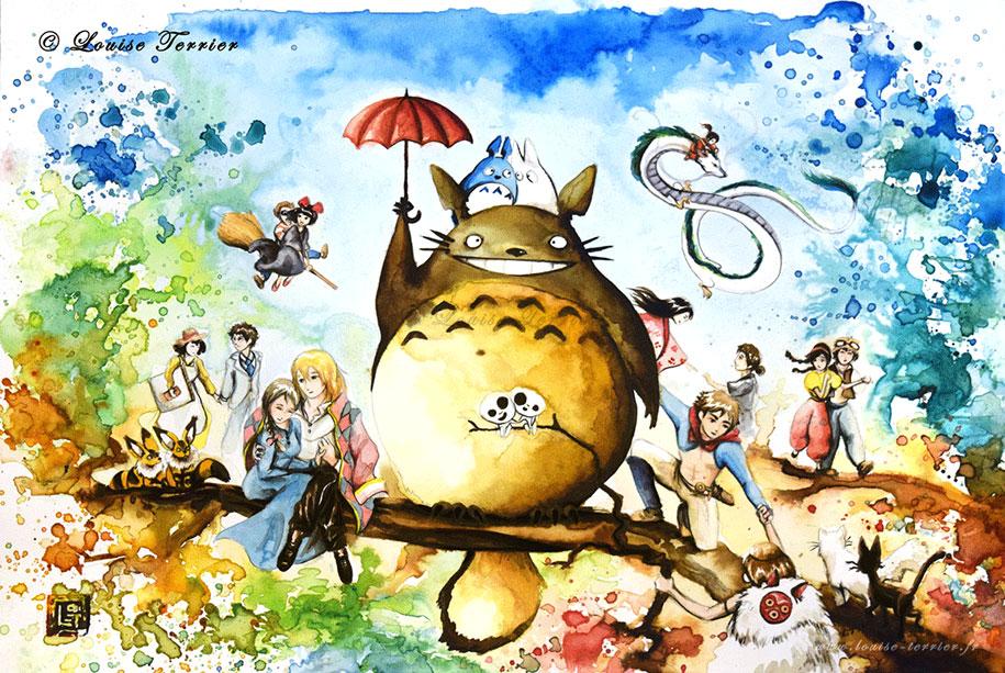 hayao-miyazaki-paintings-studio-ghibli-fan-art-louise-terrier-14