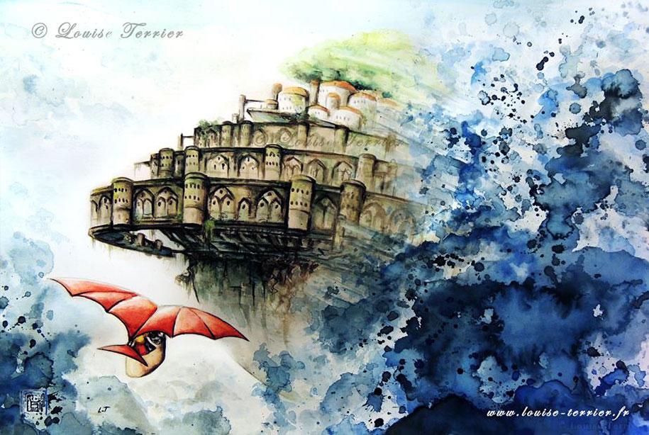 hayao-miyazaki-paintings-studio-ghibli-fan-art-louise-terrier-3