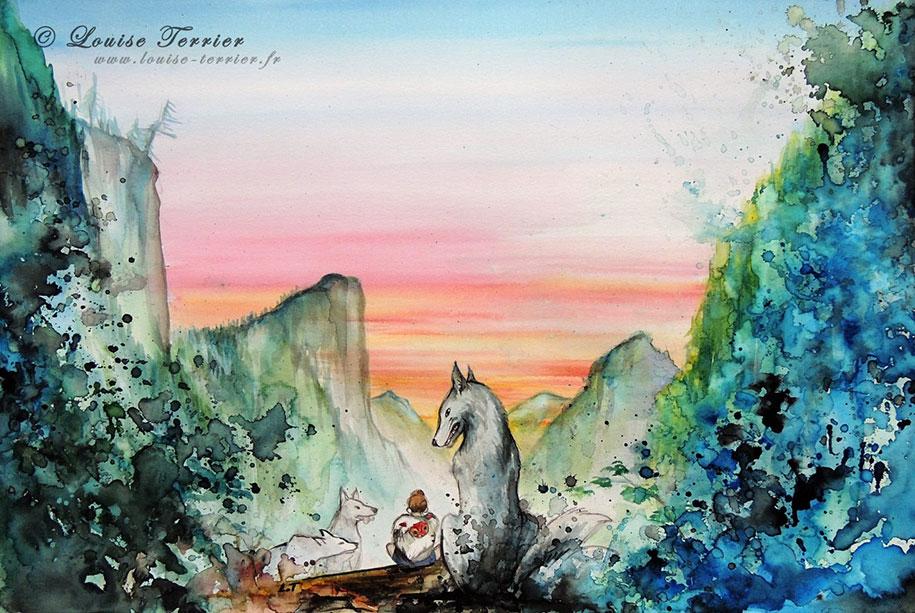 hayao-miyazaki-paintings-studio-ghibli-fan-art-louise-terrier-8
