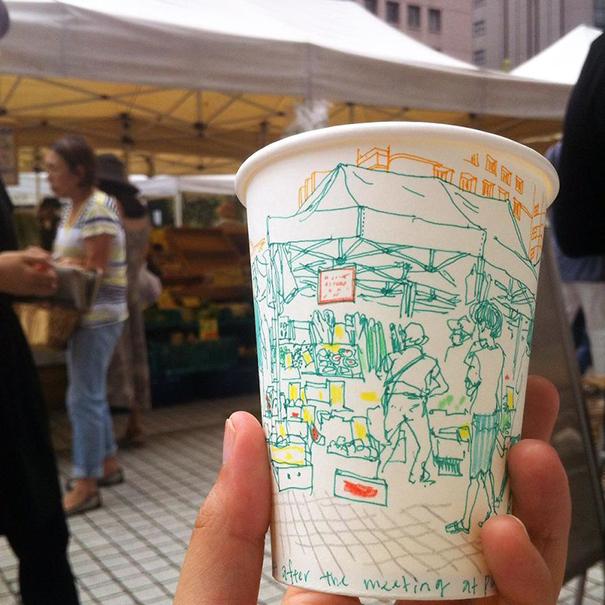 tokyo-life-illustrations-on-paper-cups-mariya-suzuki-japan-11