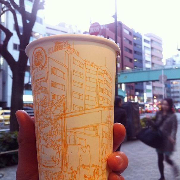 tokyo-life-illustrations-on-paper-cups-mariya-suzuki-japan-2
