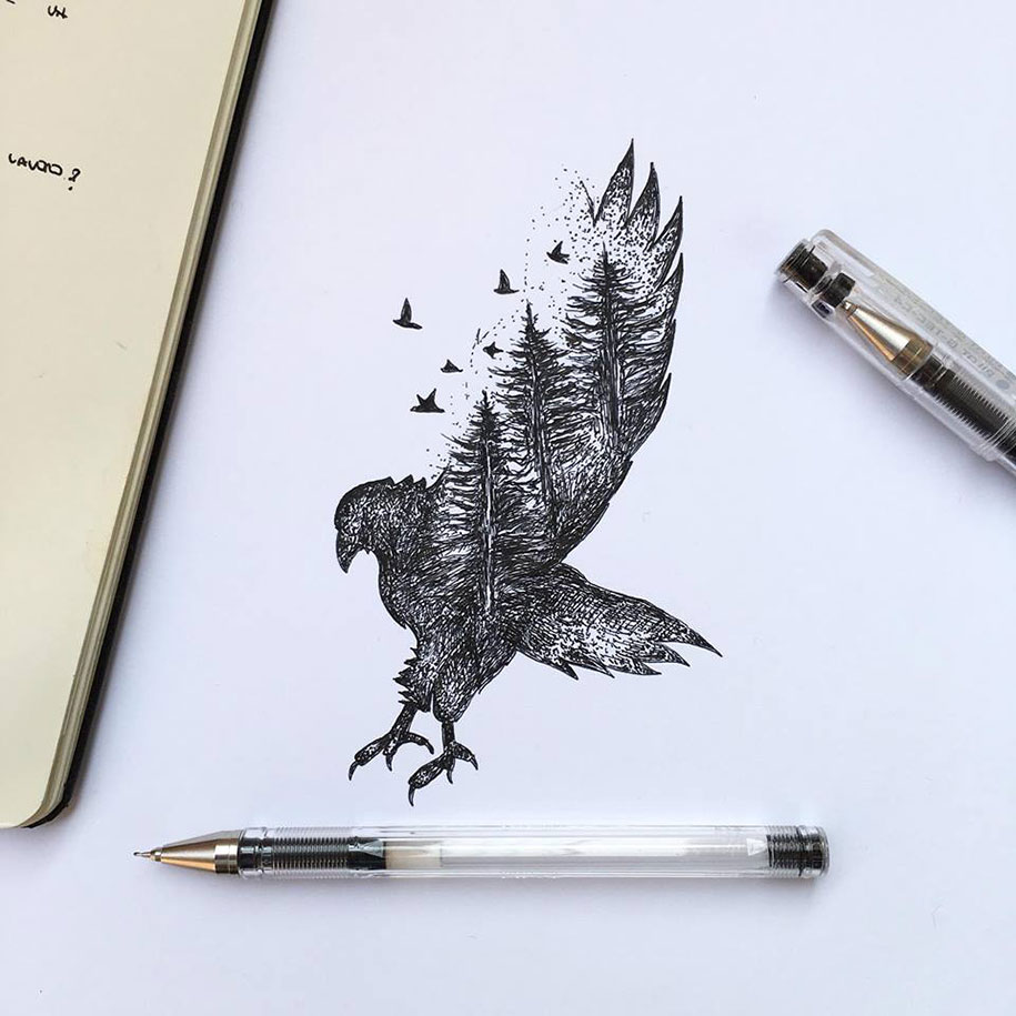 pen-ink-animal-trees-illustrations-alfred-basha-11
