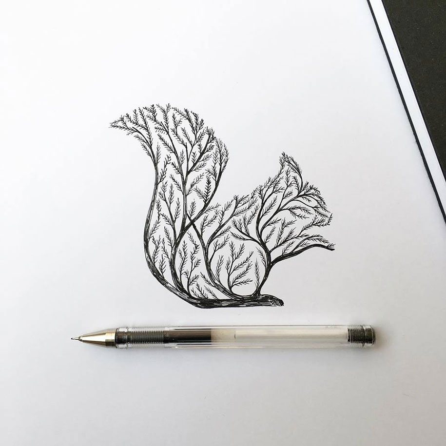 pen-ink-animal-trees-illustrations-alfred-basha-15