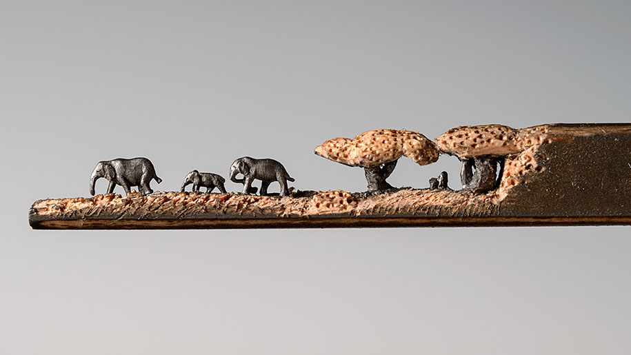 pencil-carving-graphite-art-elephant-walk-cindy-chinn-5