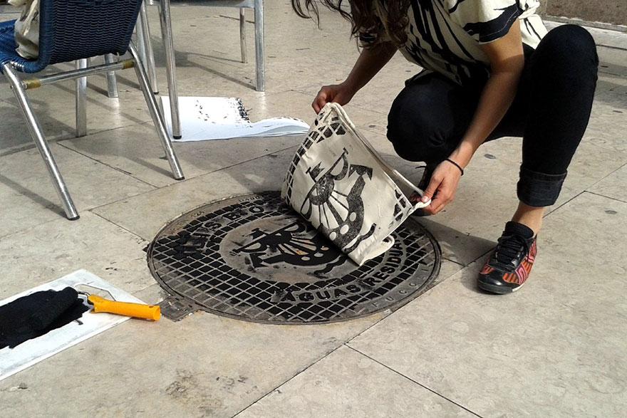 pirate-printers-manhole-cover-tshirt-paint-raubdruckerin-4