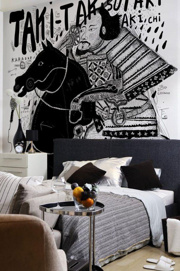 SAMURAI GRAFFITI ART WALL MURAL