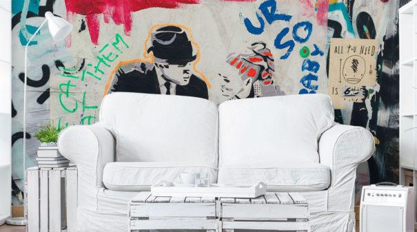 LONDON GRAFFITI ART WALL MURAL