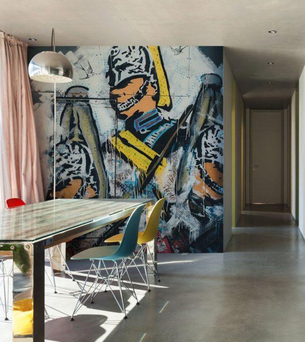 SOLDIER GRAFFITI ART WALL MURAL