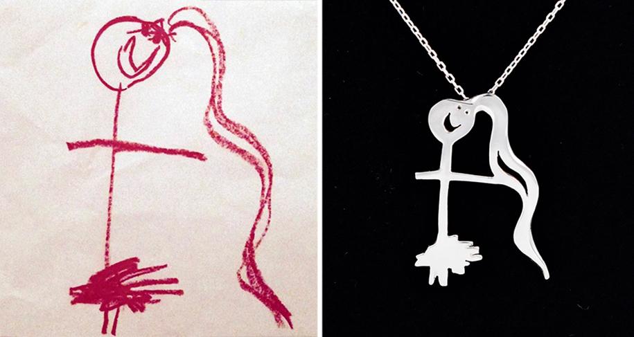 artists-turn-children-doodles-into-jewelry-yasemin-erdin-ozgur-karavit-15