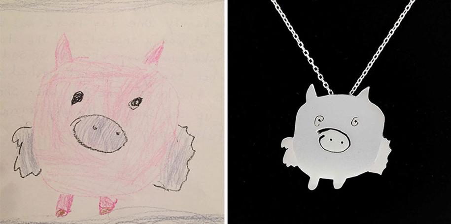 artists-turn-children-doodles-into-jewelry-yasemin-erdin-ozgur-karavit-4