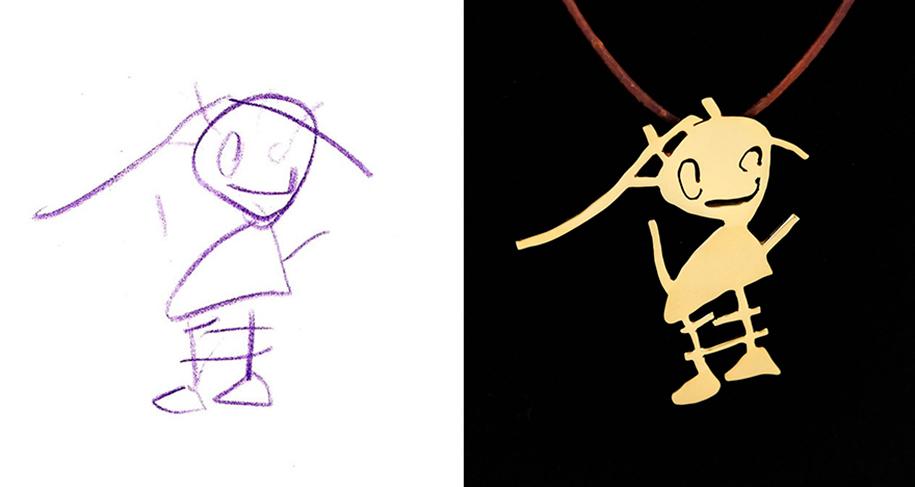 artists-turn-children-doodles-into-jewelry-yasemin-erdin-ozgur-karavit-9