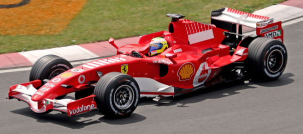 Felipe Massa driving for Ferrari at the 2006 Canadian Grand Prix