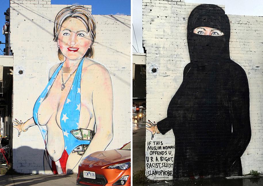hillary-clinton-graffiti-paint-over-niqab-melbourne-lushsux-4