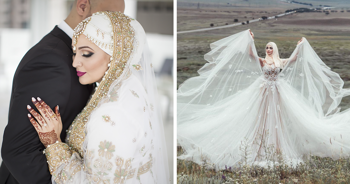 10 Traditional Islamic Hijab Wedding Dresses Demilked
