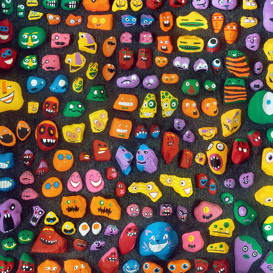 kid-paints-1000-painted-rocks-aaron-zenz-13