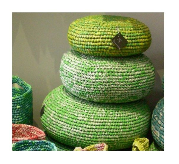 Bean bags woven from plastic