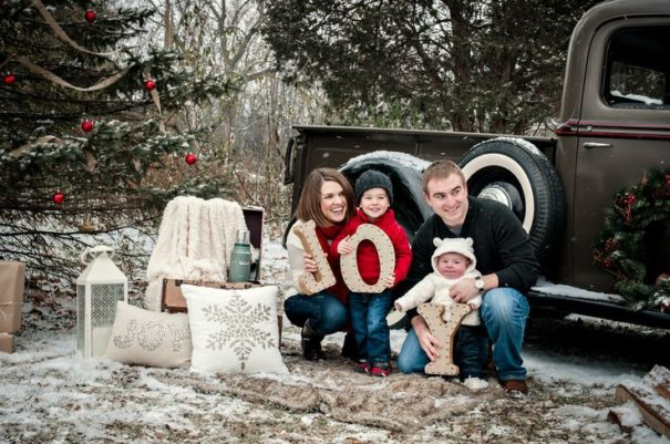 #2 Wooden letters spelling 'family'