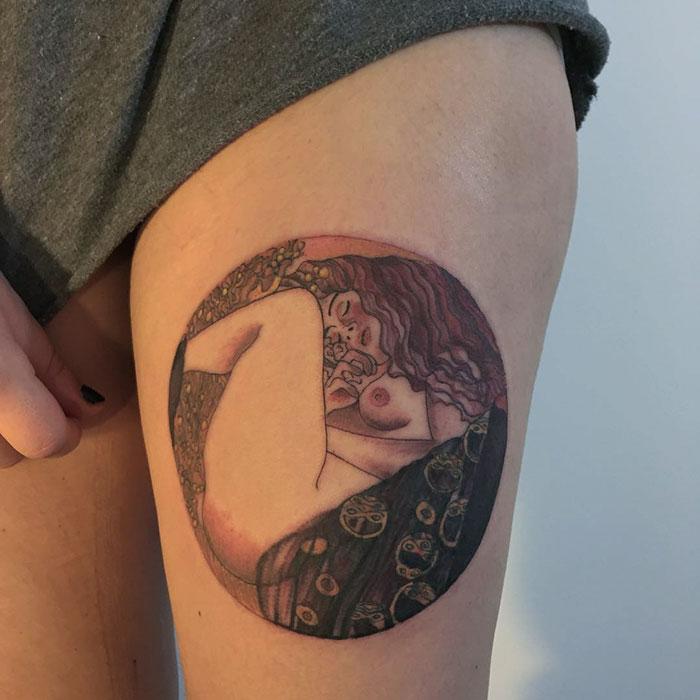 artistic-tattoos-gustav-klimt-8