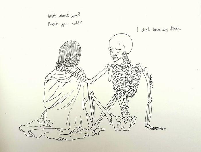 depression-death-skeleton-drawings-haenuli-shin-12