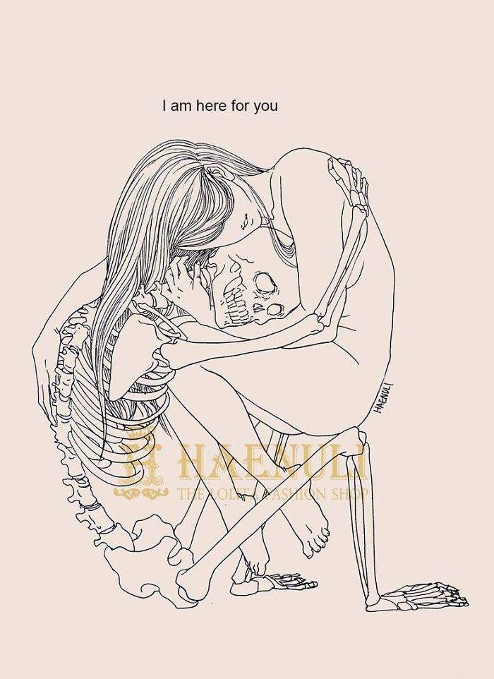 depression-death-skeleton-drawings-haenuli-shin-4
