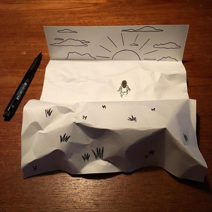 3d-paper-art-illustrations-huskmitnavn-8