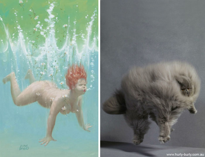 funny-cats-vintage-pin-up-girls-13