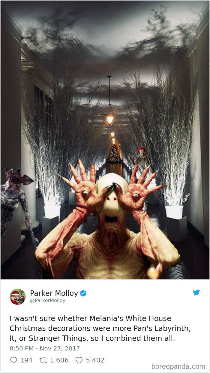 Melania's White House Christmas Decorations Look So Creepy, People