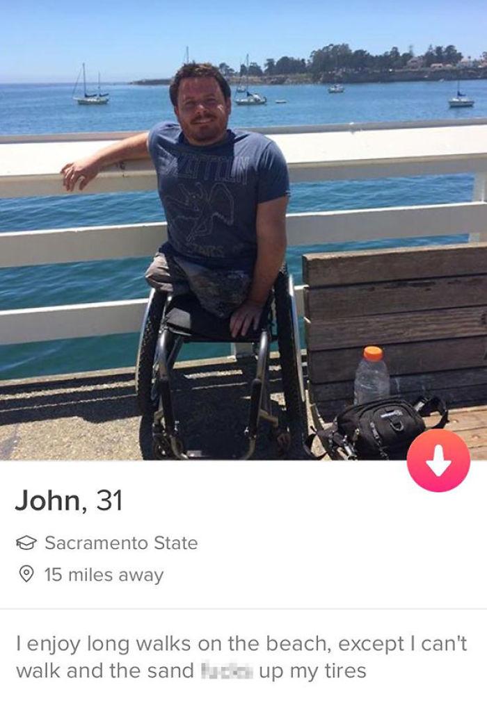 Tinder profile funny