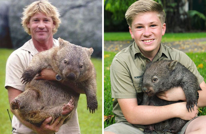 11 Pictures Showing The Similarity Between Steve Irwin And His Son Robert Demilked