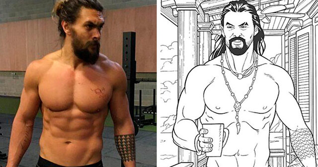 This Jason Momoa Coloring Book Is Just What You Need To Relieve Stress Demilked