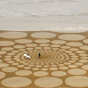Amazing Sand Drawings on California Beaches by Jim Denevan